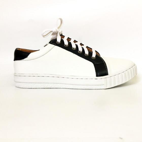Giày thể thao nam trắng da bò thật Sneaker GTT40
