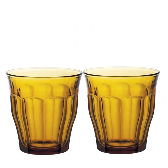 Bộ 2 ly thủy tinh chịu lực Duralex Pháp Picardie Amber 310ml