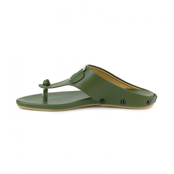 Dép xỏ ngón thời trang Sunday DD54 xanh rêu