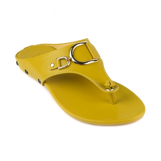 Dép xỏ ngón thời trang Sunday DD54 vàng