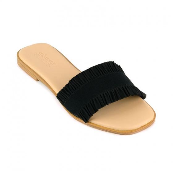 Dép da nữ thời trang êm chân Sunday DD53 đen