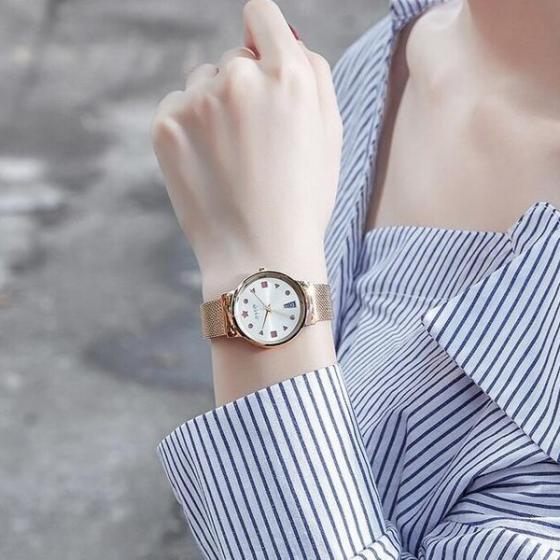 Đồng hồ nữ Julius Hàn Quốc JA-1187B dây thép (đồng)