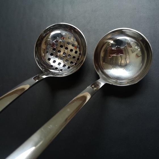 Combo 2 muỗng ăn lẩu nhỏ Inox 304 cao cấp