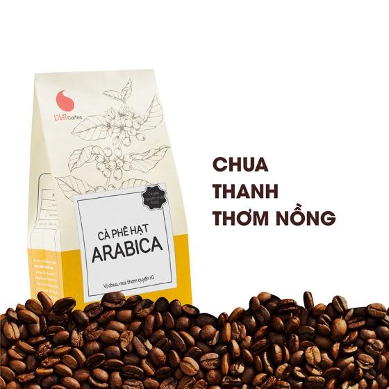 Cà phê hạt Arabica Light Coffee - gói 500g