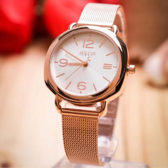 Đồng hồ nữ Julius Hàn Quốc JA-1191A dây thép (đồng)