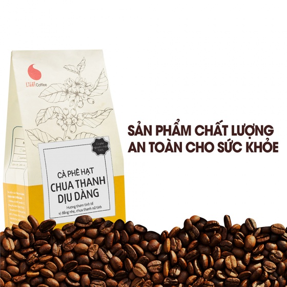 Cà phê hạt chua thanh dịu dàng Light Coffee - gói 500g