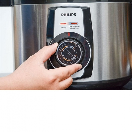 Nồi áp suất đa năng Philips HD2103 (Inox) 5L - hàng chính hãng - bảo hành 2 năm trên toàn quốc