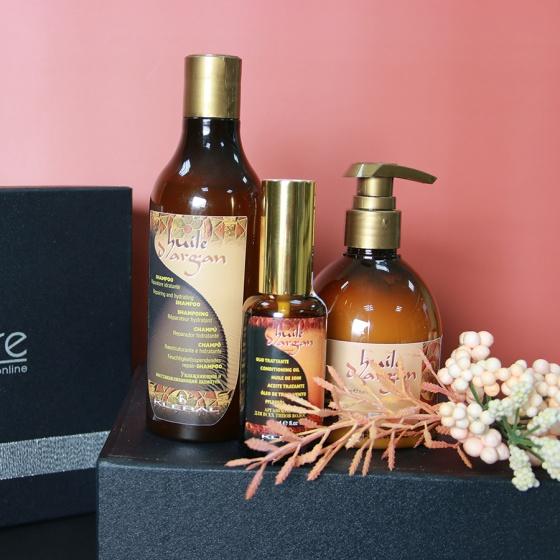 Hộp quà cao cấp bộ sản phẩm chăm sóc tóc Huile D'Argan 250ml