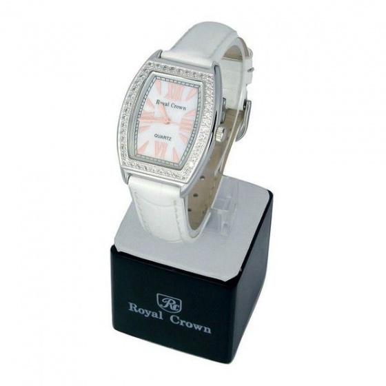 Đồng hồ nữ chính hãng Royal Crown 3635 dây da trắng