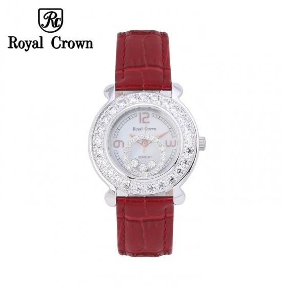 Đồng hồ nữ chính hãng Royal Crown 3773 dây da đỏ