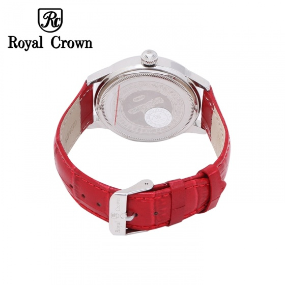 Đồng hồ nữ chính hãng Royal Crown 6118M dây da đỏ