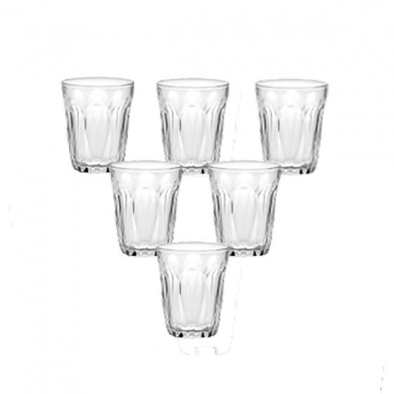 Bộ 6 ly thủy tinh chịu lực Duralex Pháp Provence trắng 250ml