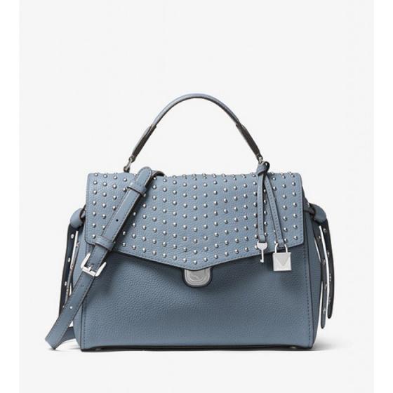 Túi xách chính hãng Michael Kors Bristol Leather Pale Blue 30H7SZKS2I