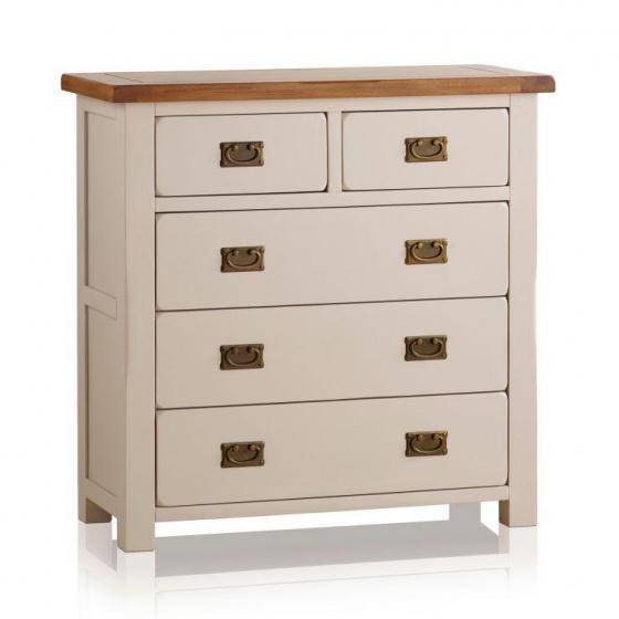 Tủ ngăn kéo ngang 5 hộc Sintra gỗ sồi - Cozino
