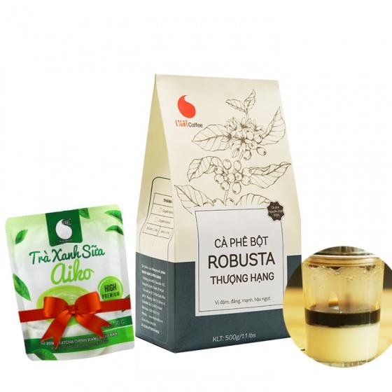 Cafe bột thượng hạng Light Coffee 500g tặng Matcha sữa Aiko 50g