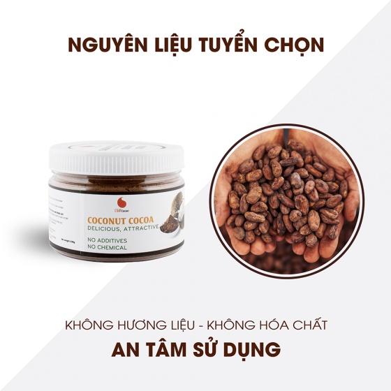 Cacao dừa hũ 230g từ nhà sản xuất Light Coffee