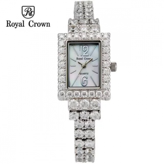 Đồng hồ nữ chính hãng Royal Crown 3584-J dây đá vỏ trắng