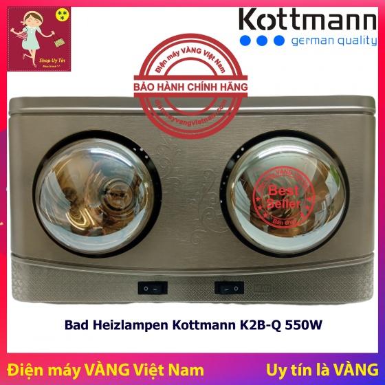 Đèn sưởi nhà tắm 2 bóng treo tường Kottmann K2B-Q