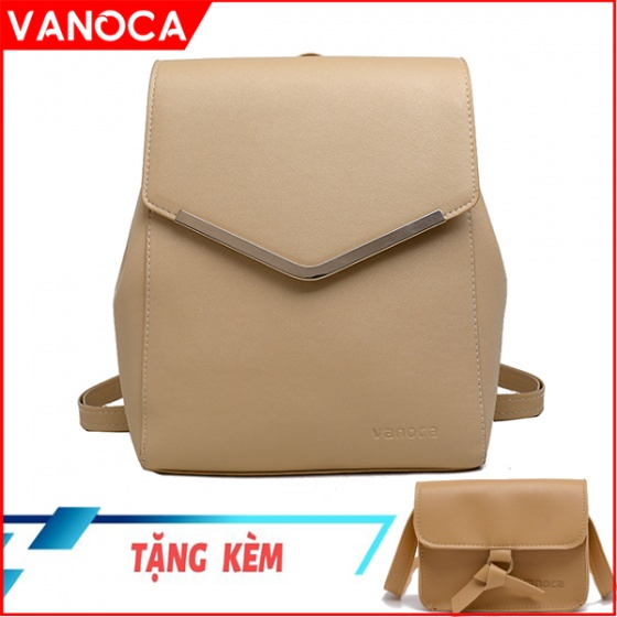 Bộ sản phẩm balo nữ Vanoca VN155 tặng kèm túi đeo chéo VN167 - chính hãng phân phối