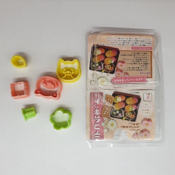Set 6 khuôn tạo hình đồ ăn cho bé Maruki