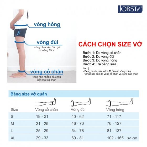 Vớ y khoa hông Jobst Opaque - Mỏng điều trị giãn tĩnh mạch chân, 20-30 mmHg, size L (tất y khoa)