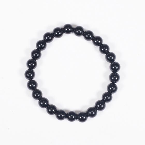 Vòng tay phong thủy đá obsidian 6mm mệnh thủy , mộc - Ngọc Quý Gemstones