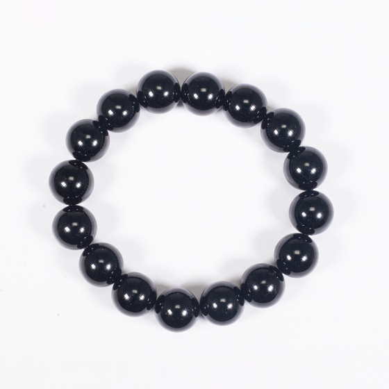 Vòng tay phong thủy đá obsidian 12mm mệnh thủy , mộc - Ngọc Quý Gemstones