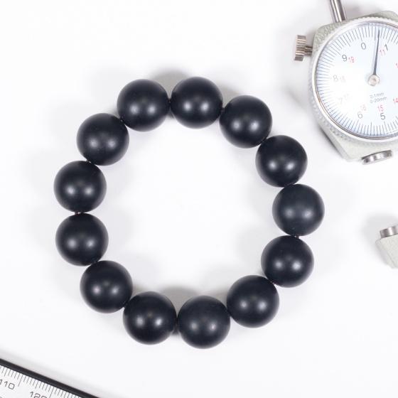 Vòng tay phong thủy đá obsidian nhám 16mm mệnh thủy , mộc - Ngọc Quý Gemstones