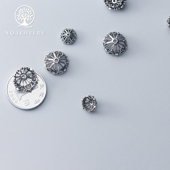 Charm chụp hạt, bọc hạt họa tiết hoa văn 10mm