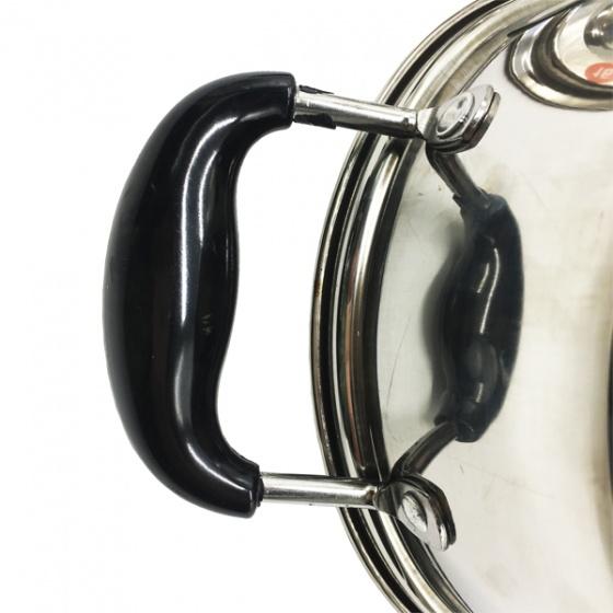 Nồi nấu inox 2 đáy cỡ 30cm Hoàng Gia - nắp kính