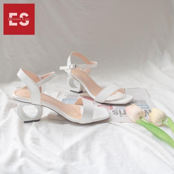 Giày nữ, giày cao gót vuông thời trang erosska hở gót quai hậu tinh tế cao 5cm EB009 (BA)