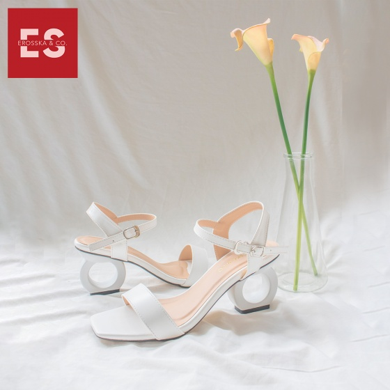 Giày nữ, giày cao gót vuông thời trang erosska hở gót quai hậu tinh tế cao 5cm EB009