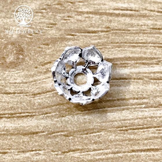Charm bạc chụp hạt, bọc hạt họa tiết hoa văn