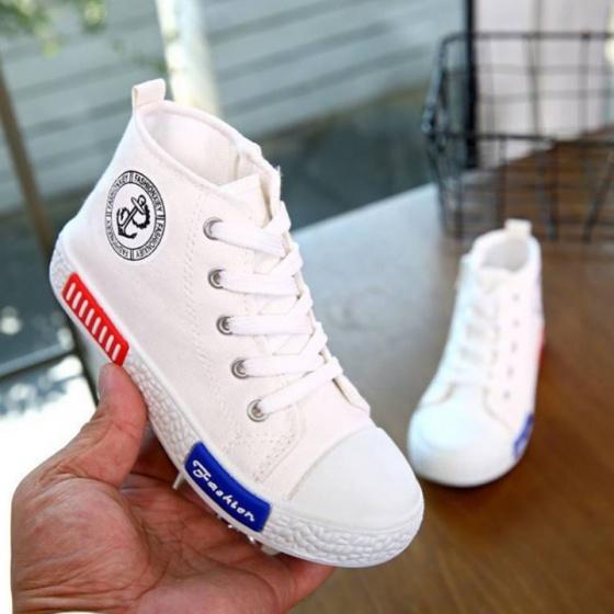 Giày trẻ em 5-12 tuổi, giày trẻ em cao cổ cho bé trai và bé gái