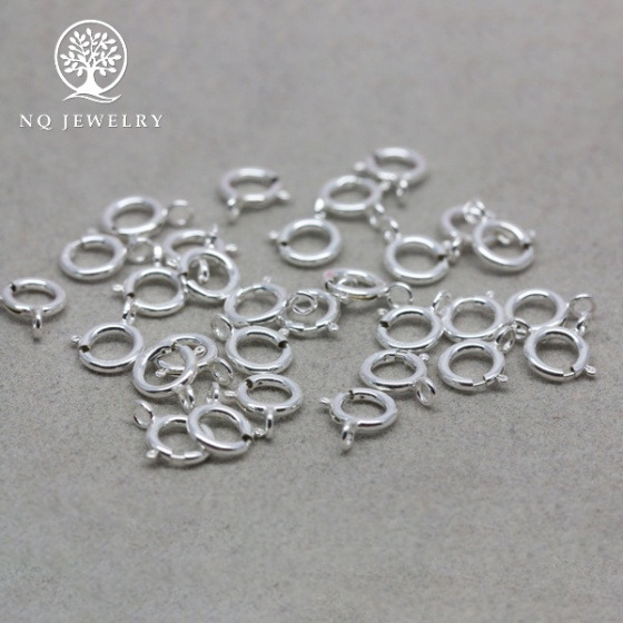 Charm bạc khoen tròn làm khóa liên kết vòng,dây chuyền,dây chuỗi