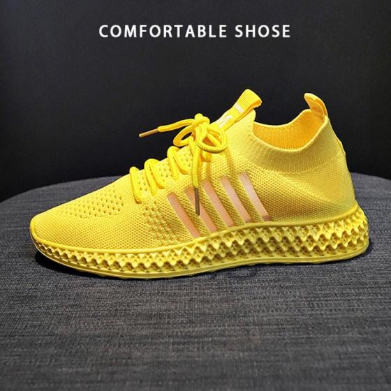 Giày nữ thể thao sneaker đẹp vải mềm ôm chân thiết kế xuyên thấu hai bên cao cấp