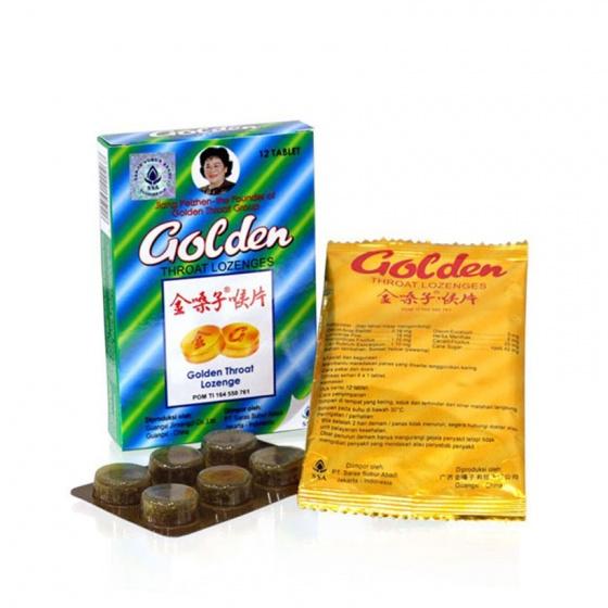 Bộ đôi điều trị ho đau rát họng viên nang Thanh Phế Nhiệt và viên ngậm ho thảo dược Golden Throat Lozenge