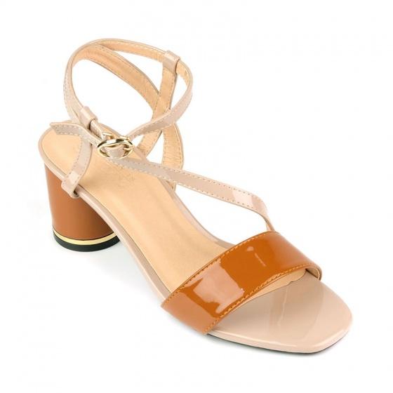 Sandal đế vuông êm chân Sunday DV55 kem