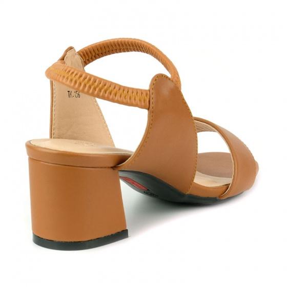 Sandal đế vuông êm chân Sunday DV56 nâu