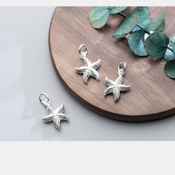 Charm bạc hình sao biển treo