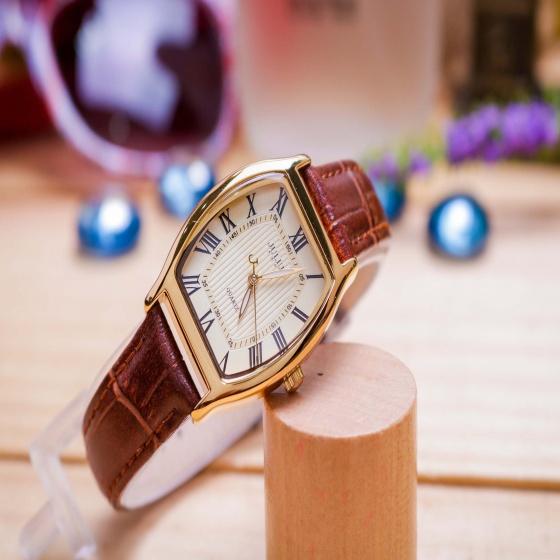 Đồng hồ nữ JA-703LC Julius Hàn Quốc mặt chữ nhật (nâu)