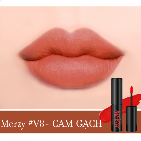 Son kem lỳ merzy another me the first velvet tint - V8 cam gạch