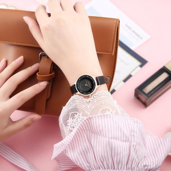 Đồng hồ nữ Julius Hàn Quốc JA-1197 dây da