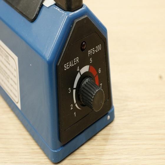 Máy hàn miệng túi dập tay size 20cm PFS200