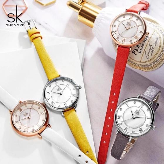 (SIÊU SALE) Đồng hồ nữ chính hãng Shengke UK K9002L-02 Xám