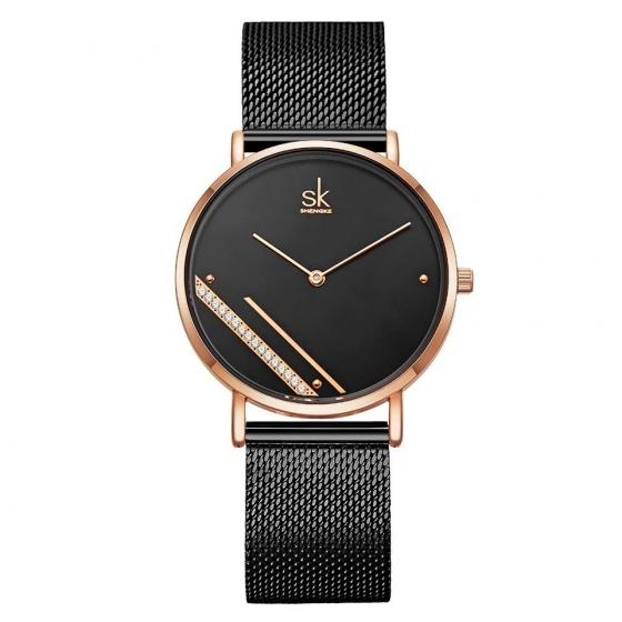 Đồng hồ nữ chính hãng Shengke UK 11K0106L-01 Đen