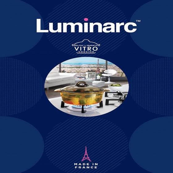 Nồi thủy tinh Luminarc Vitro Blooming Amber 1L H6721