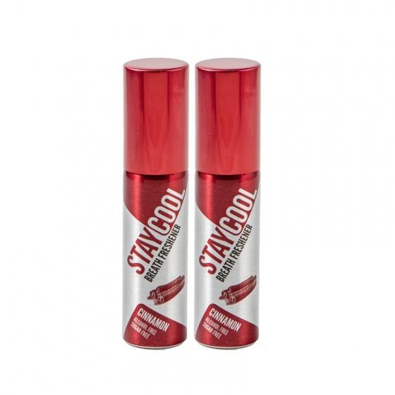 Combo 2 chai xịt thơm miệng kháng khuẩn StayCool Anh Quốc - hương quế nồng nàn quyến rũ, dạng vỉ