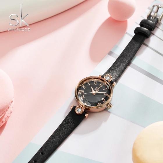 Đồng hồ nữ chính hãng Shengke Korea K9009L-02 Đen