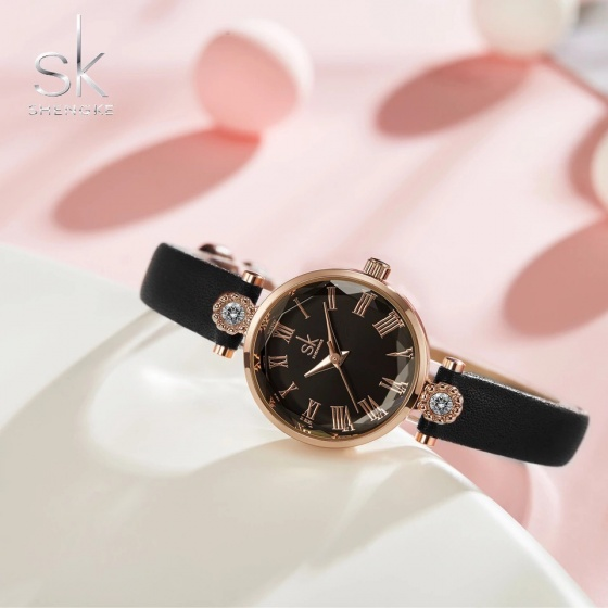 Đồng hồ nữ chính hãng Shengke UK K9009L-02 Đen